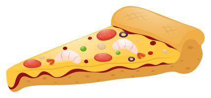 Stukje pizza met vlees beleg