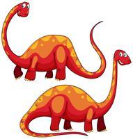 Brachiosaurus links en rechts beeld