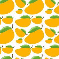Naadloze achtergrond met verse mango's vector