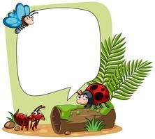 Grensmalplaatje met vele insecten
