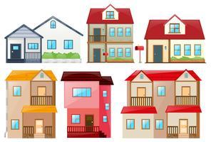 Verschillende ontwerp van huizen vector
