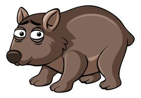 Wombat met ongelukkig gezicht vector