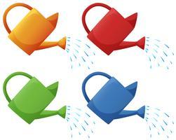 Gieters in vier kleuren vector