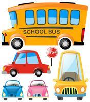 Set van verschillende soorten vervoer