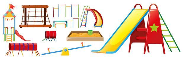 Verschillende soorten speelstations in de speeltuin