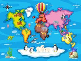 Wilde dieren van over de hele wereld vector