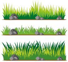 Naadloos ontwerp voor gras en rotsen vector