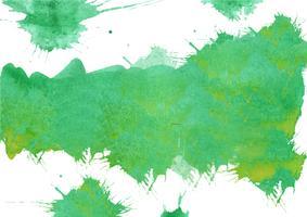 Kleurrijke handgeschilderde aquarel achtergrond. Groene aquarel penseelstreken. Abstracte waterverftextuur en achtergrond voor ontwerp. Waterverfachtergrond op geweven document. vector