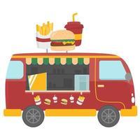 fast food food truck vector ontwerp