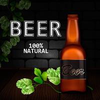 Illustratie voor het festival Oktoberfes met een flesje bier vector