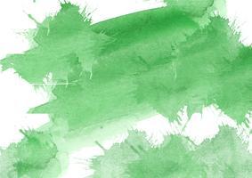 Kleurrijke handgeschilderde aquarel achtergrond. Gele, groene en blauwe aquarel penseelstreken. Abstracte waterverftextuur en achtergrond voor ontwerp. Waterverfachtergrond op geweven document. vector