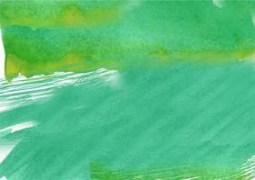 Kleurrijke handgeschilderde aquarel achtergrond. Groene aquarel penseelstreken. Abstracte waterverftextuur en achtergrond voor ontwerp. Waterverfachtergrond op geweven document.