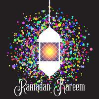 Kleurrijke Ramadan Kareem-achtergrond vector
