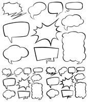 Verschillende vorm van tekstballonnen