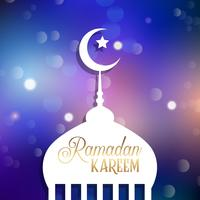 Ramadan Kareem achtergrond vector
