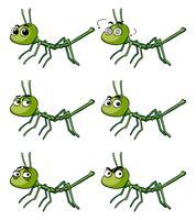 Stick insect met verschillende emoties vector