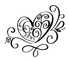 Vector Valentijnsdag van bloeien kalligrafie vintage harten