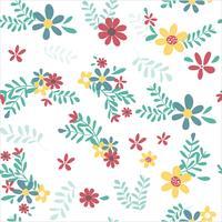 kleurrijke lente bloemenpatroon naadloos