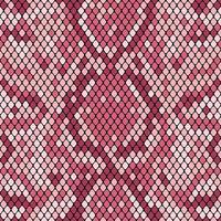 Snakeskin naadloos patroon. Realistische textuur van slang of een andere reptielenhuid. Roze paarse kleuren. Vector illustartion