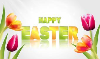 Vector illustratie van Happy Easter Holiday.