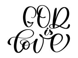 God is liefde christelijke citaat tekst in de Bijbel vector