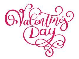 Happy Valentines Day typografie poster met handgeschreven kalligrafie tekst vector