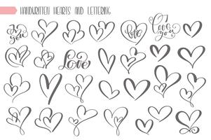 Grote set Valentijnsdag handgeschreven letters