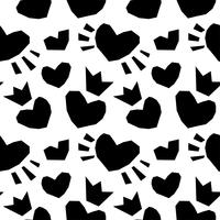 Valentijnskaart naadloze hartenpatroon vector