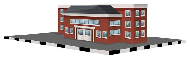 Schoolgebouw in 3D-ontwerp vector