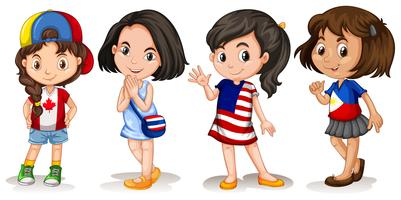 Meisjes uit verschillende landen vector
