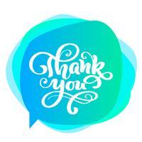 Dank u handgeschreven inscriptie. Hand getrokken belettering. Bedankt kalligrafie. Bedankt kaart. Vectorillustratie voor Thanksgiving Day