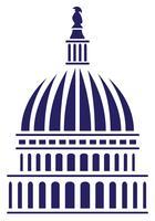 Amerikaanse Capitol Dome vectorillustratie