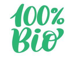 100 Bio vector logo ontwerp