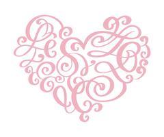 De hand getrokken valentijnskaart van de hartliefde bloeit separator De elementen van de kalligrafieontwerper. Vector uitstekende huwelijksillustratie die op wit frame als achtergrond, harten voor uw ontwerp wordt geïsoleerd