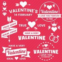 Valentine-sjabloonbanner Vectorachtergrond voor banner