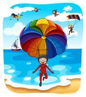 parachutespringen vector