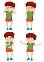 Een jongensachtige dansbeweging