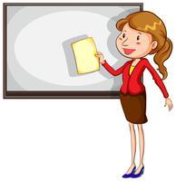 Een schets van een eenvoudige leraar