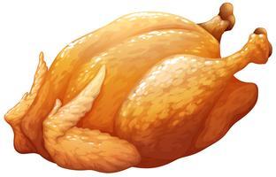 Geheel gebraden of BBQ-kip vector