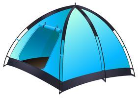 Blauwe tent vector