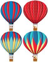 Set van heteluchtballonnen vector