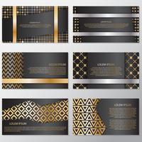 Gouden banner achtergrond flyer stijl ontwerpsjabloon vector