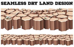 Naadloos ontwerp van het droge land