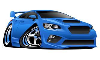 Moderne invoer sportwagen Cartoon vectorillustratie