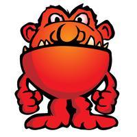Domme Monster schepsel Cartoon vectorillustratie
