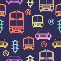 Naadloos Auto'spatroon die de achtergrond van de tegelsachtergrond herhalen