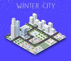 Stadsmodule schepper isometrisch concept van stedelijke