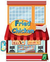 Een gebraden kippenrestaurant