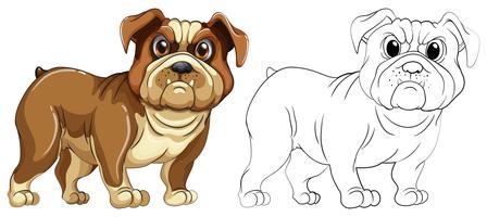 Dierenlijn voor hond vector