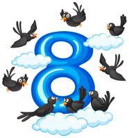 Acht vogels in de lucht